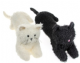 Homecraft Fluffy Cat Draught Excluder Available in Black or Cream 41277